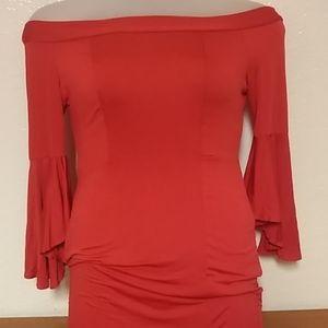 Off Shoulder Red Maxi Dress size XL